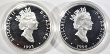 Lot 145: 2 $20 STERLING SILVER COINS CANADA AVIATION SERIES