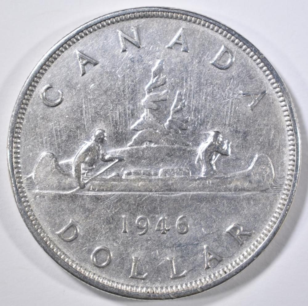 Lot 149: 1946 CANADA SILVER DOLLAR GEM BU