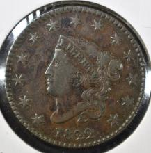 Lot 152: 1822 LARGE CENT, XF NICE