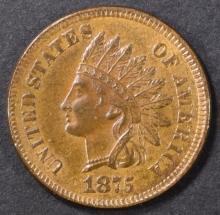 Lot 156: 1875 INDIAN CENT BU BN