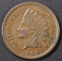 Lot 157: 1908-S INDIAN CENT XF