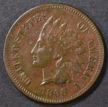 Lot 155: 1868 INDIAN CENT VF/XF