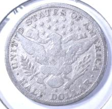 Lot 167: 1904-S BARBER HALF DOLLAR VG