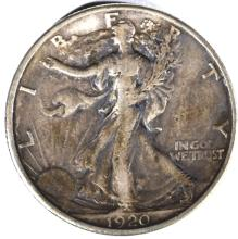 Lot 170: 1920-S WALKING LIBERTY HALF DOLLAR, XF