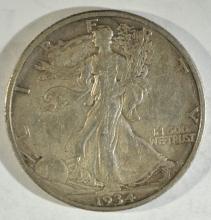 Lot 172: 1934-S WALKING LIBERTY AU
