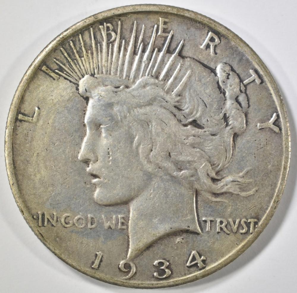 1934-S PEACE DOLLAR VF
