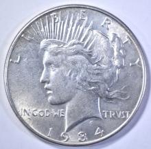 Lot 186: 1934 PEACE DOLLAR, NICE BU