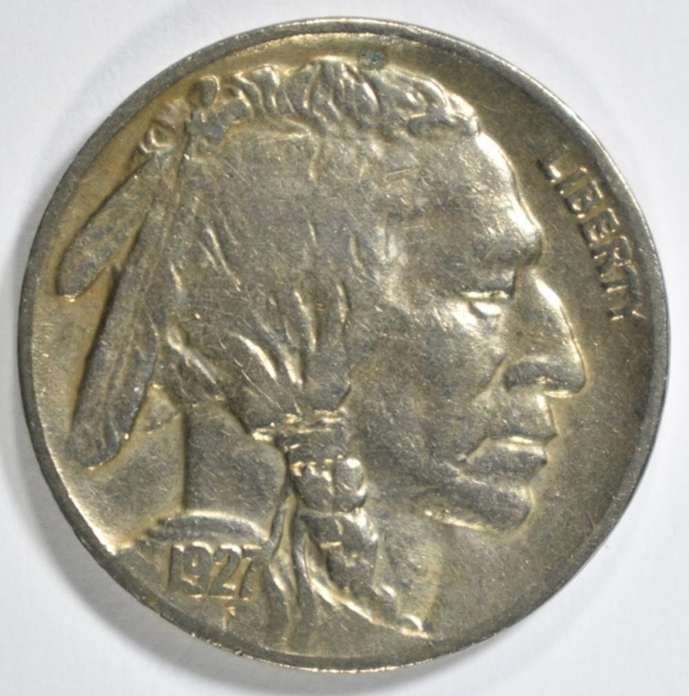 Lot 204: 1927-S BUFFALO NICKEL XF/AU