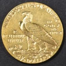 Lot 213: 1929 $2.5 INDIAN HEAD CH BU