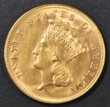 Lot 214: 1888 $3 GOLD INDIAN PRINCESS CH/GEM BU