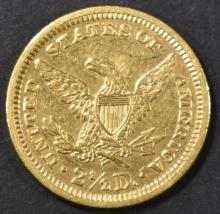 Lot 212: 1871 $2.5 GOLD LIBERTY BU OLD CLEANING