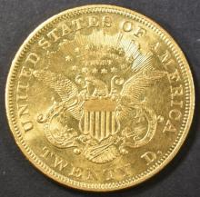 Lot 217: 1872 $20 GOLD LIBERTY HEAD CH BU