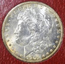 Lot 220: 1901-O MORGAN DOLLAR PIC RED LABEL GEM BU