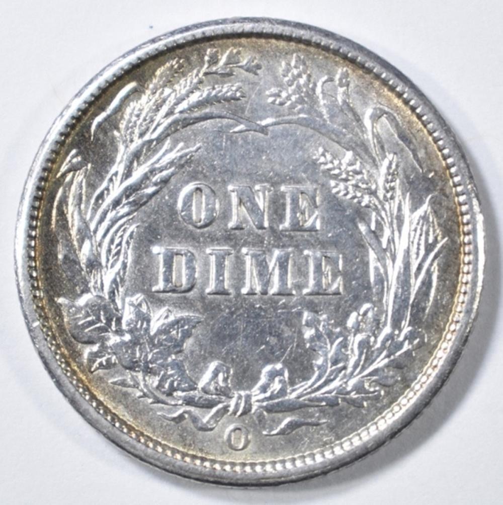 Lot 236: 1896-O BARBER DIME CH AU