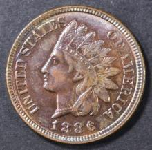 Lot 234: 1886 TYPE 2 INDIAN CENT CH BU RB