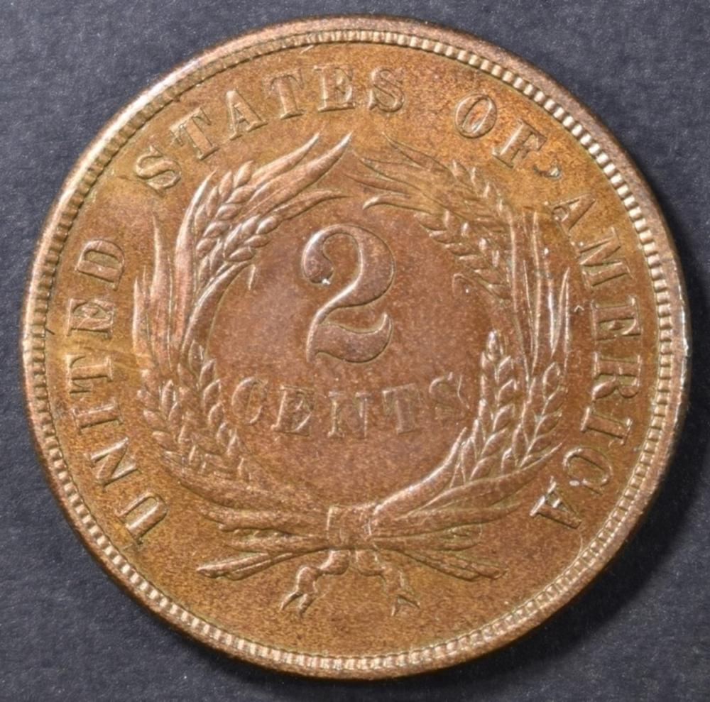 Lot 235: 1865 2 CENT CH BU RB