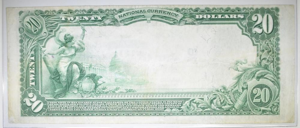 Lot 229: 1902 $20 NATIONAL CURRENCY. 1ST NB OF CANTON, OH