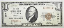 Lot 226: 1929 TY 1 $10 NATIONAL CURRENCY.