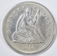 Lot 238: 1876 SEATED LIBERTY QUARTER AU