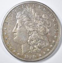 Lot 247: 1889-CC MORGAN DOLLAR AU