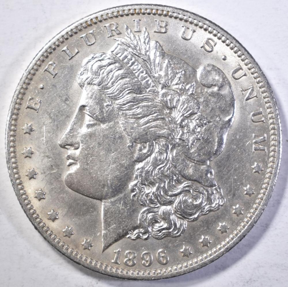 Lot 249: 1896-O MORGAN DOLLAR AU/BU