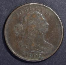 Lot 253: 1806 HALF CENT VF