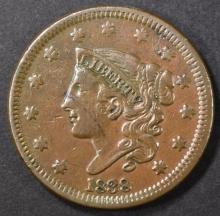 Lot 258: 1838 LARGE CENT, XF+
