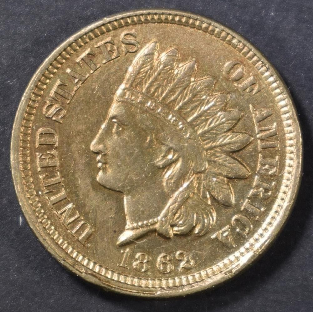 Lot 261: 1862 INDIAN CENT CH BU