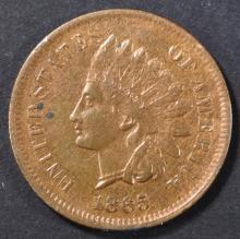 Lot 262: 1865 INDIAN CENT BU RB