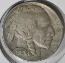 Lot 268: 1913-D TYPE-1 BUFFALO NICKEL, AU