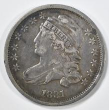 Lot 276: 1831 BUST DIME XF