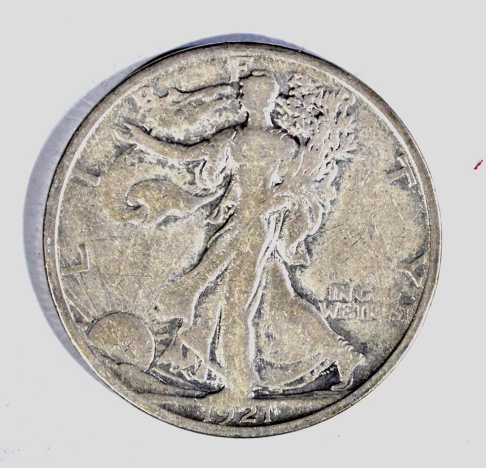 Lot 290: 1921-S WALKING LIBERTY HALF DOLLAR, FINE