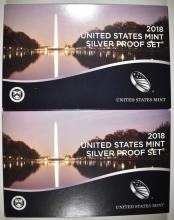 Lot 298: 2-2018 U.S. SILVER PROOF SETS IN ORIG PACKAGING