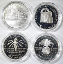 Lot 295: MODERN PROOF COMMEM SILVER DOLLARS