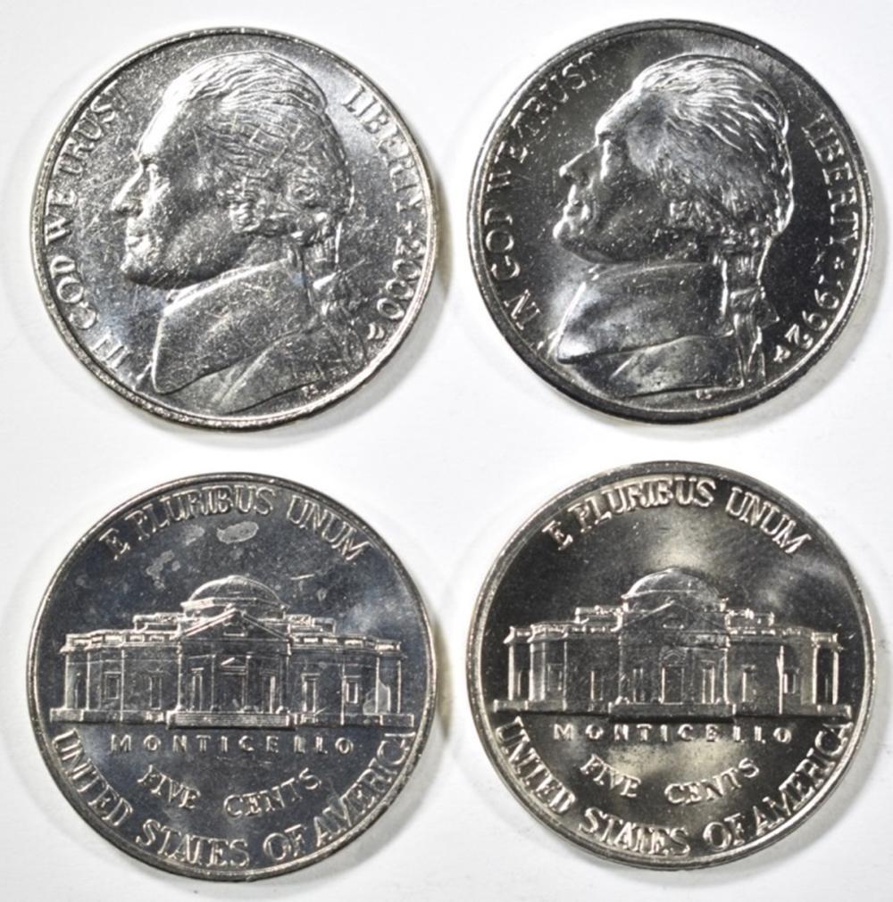 Lot 301: $74.00 FACE VALUE BU JEFFERSON NICKELS 1987-2008