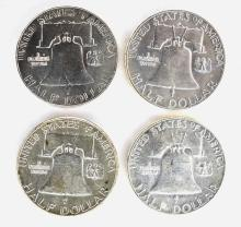 Lot 314: CH BU FRANKLIN HALF DOLLARS 1952 P&D & 2-55