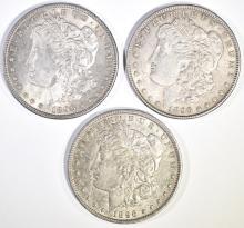 Lot 317: 3-CH BU 1896 MORGAN DOLLARS