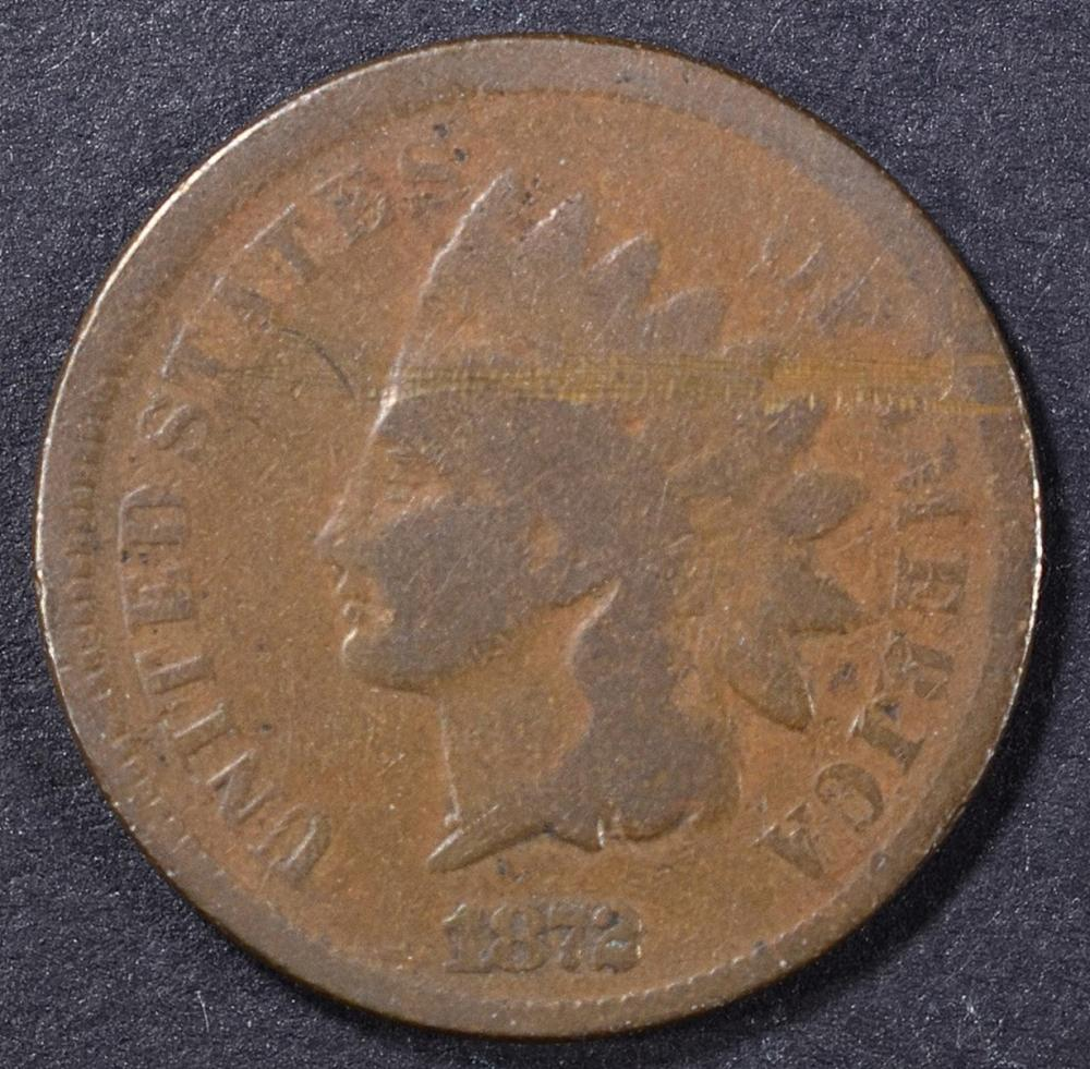 Lot 323: 1872 G, SCRATCH INDIAN CENT