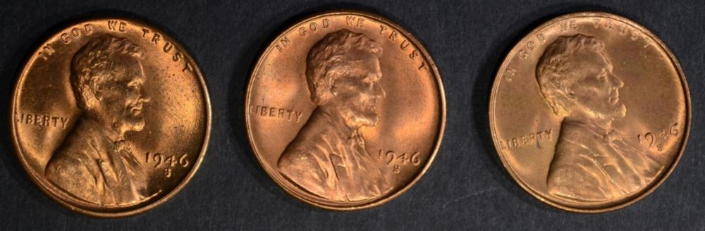 Lot 341: 25-BU 1946-S LINCOLN CENTS
