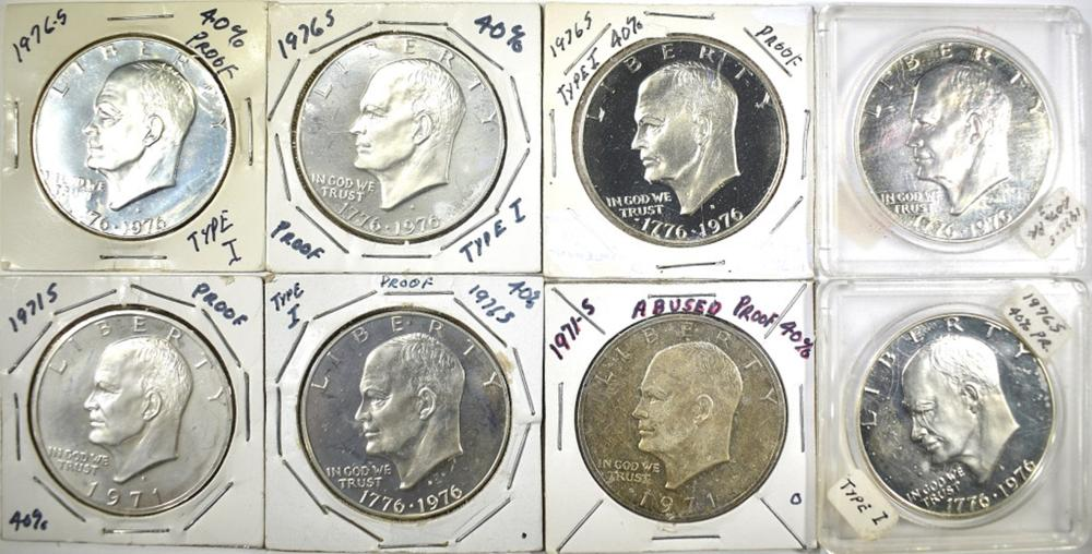 Lot 340: 40% SILVER PROOF IKE DOLLARS; 2-1971S,