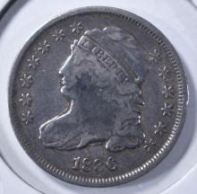 Lot 352: 1836 BUST DIME, VF