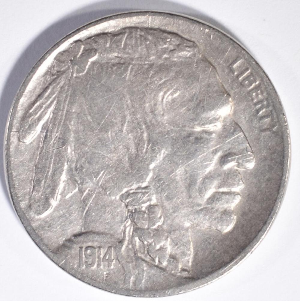Lot 351: 1914-D BUFFALO NICKEL, VF
