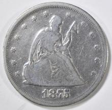 Lot 353: 1875 20 CENT PIECE VG CLEANED