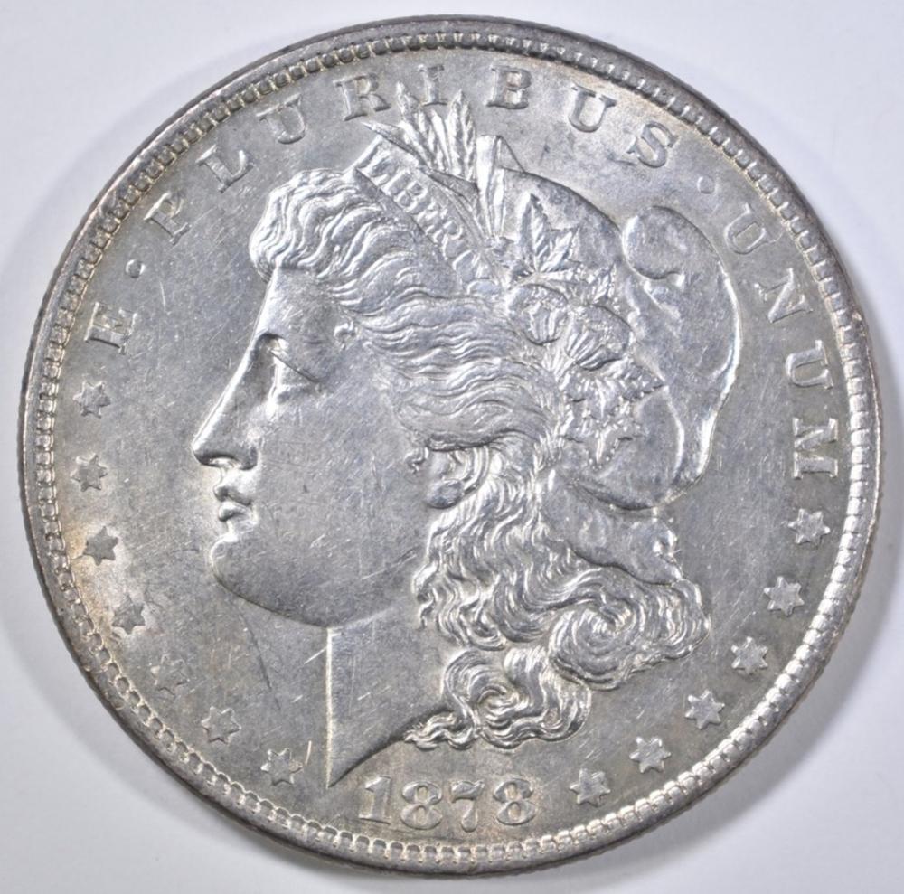 Lot 354: 1878 8 TF MORGAN DOLLAR BU