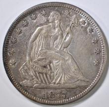 Lot 373: 1877 SEATED LIBERTY HALF DOLLAR AU