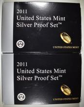 Lot 402: 2-2011 U.S. SILVER PROOF SETS IN ORIG PACKAGING