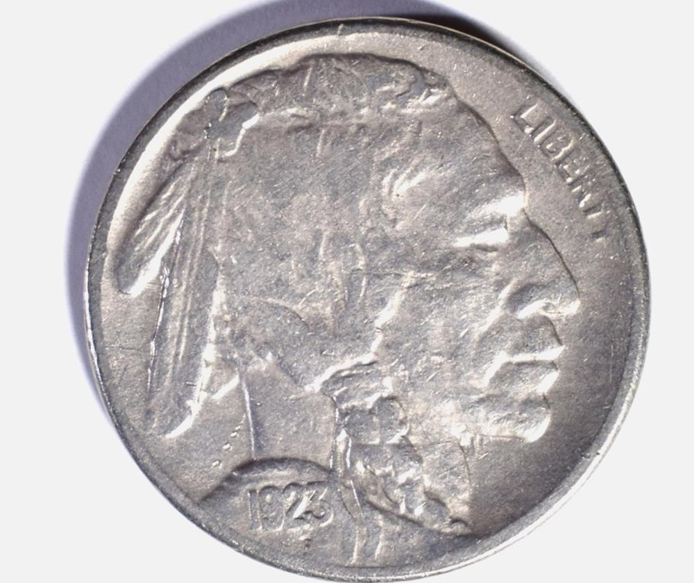 Lot 414: 1923-S BUFFALO NICKEL, XF