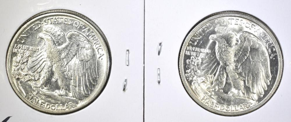 Lot 408: 1943 & 45-S WALKING LIBERTY HALF DOLLARS: