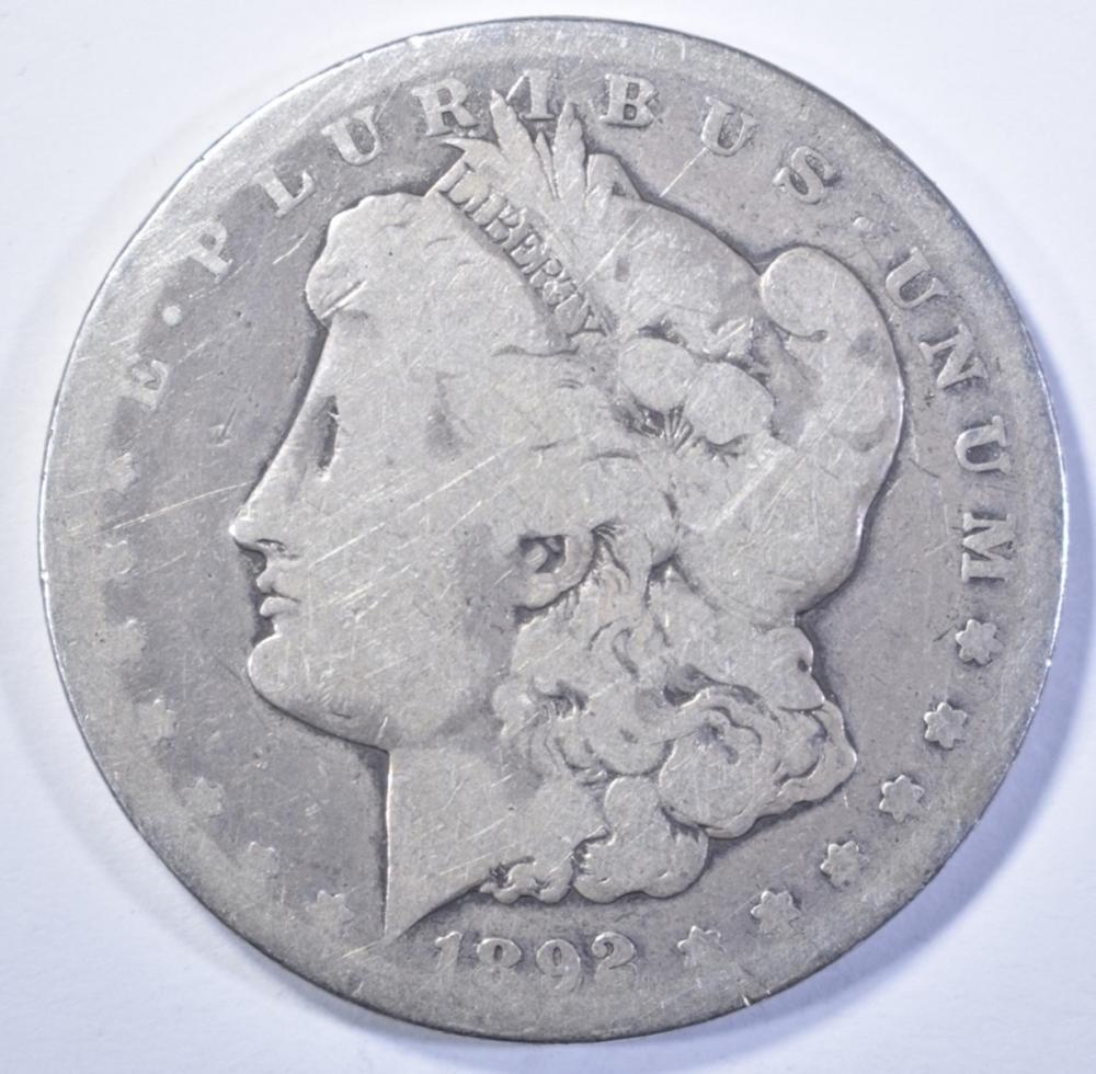 Lot 420: 1892-CC MORGAN DOLLAR, GOOD