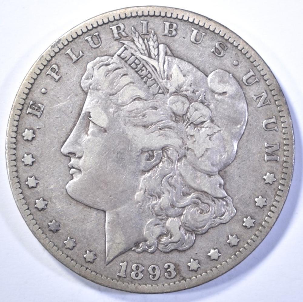 Lot 421: 1893-CC MORGAN DOLLAR, XF